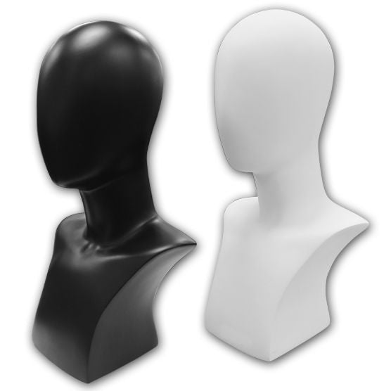 AF-120 Abstract Female Mannequin Head Bust Form - DisplayImporter