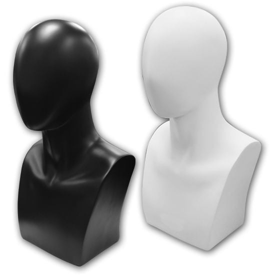 AF-122 Abstract Male Mannequin Head Bust Form - DisplayImporter