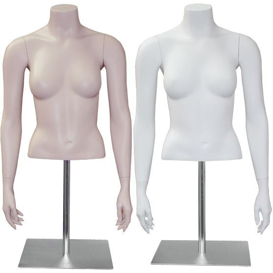 AF-124 Countertop Headless Female Half Torso Form with Base - DisplayImporter