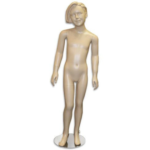 "AF-158 Girl Mannequin with Molded Hair 4' 2"" - DisplayImporter"