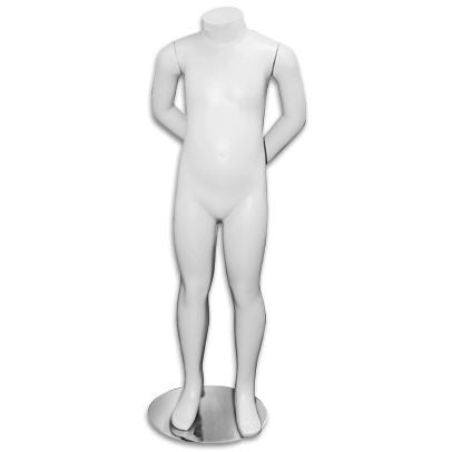 "AF-161 Headless White Unisex Children's Mannequin 3' 2.5"" - DisplayImporter"