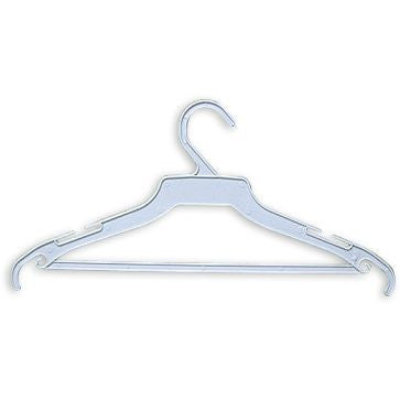 "AF-171 16"" White Ladies Suit Store Hangers - Pack of 500 - DisplayImporter"