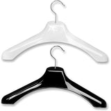 "AF-185 19"" Contoured Coat Euro Hanger - Pack of 50 - DisplayImporter"