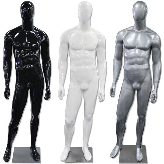 AF-192 Glossy Abstract Male Egghead Mannequin - DisplayImporter