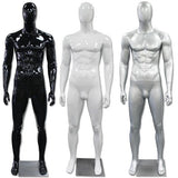AF-194 Glossy Abstract Male Egghead Mannequin - DisplayImporter