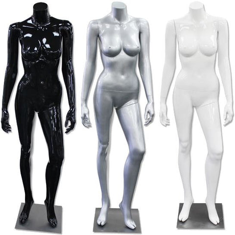 AF-196 Glossy/Matte Female Headless Mannequin - DisplayImporter