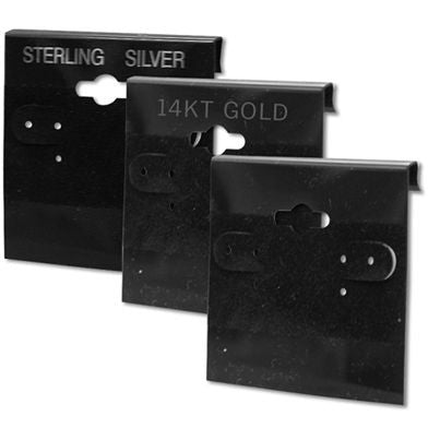 AF-AEC-573 Black Earring Cards - Pack of 100 - DisplayImporter