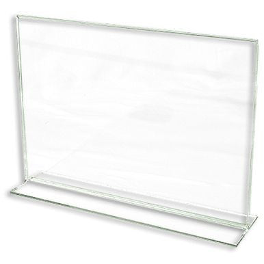 "AF-CPG118 Bottom Loading Lucite Cardholder 8.5"" H x 11"" W - DisplayImporter"