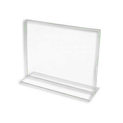 "AF-CPG57 Bottom Loading Lucite Cardholder 5.5"" H x 7"" W  - DisplayImporter.com"
