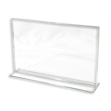 "AF-CPG711 Bottom Loading Lucite Cardholder 7"" H x 11""  - DisplayImporter.com"