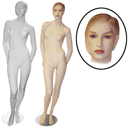 AF-FM1 Female Mannequin with Molded Hair - DisplayImporter