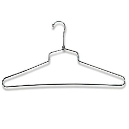 "AF-H9106 16"" Chrome Shirt & Dress Hanger - Pack of 100 - DisplayImporter"