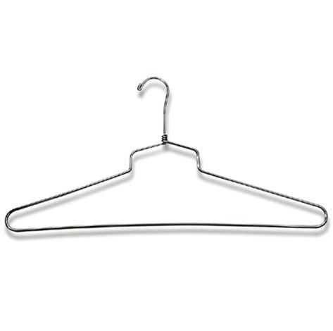 "AF-H915 18"" Chrome Shirt & Dress Hanger - Pack of 100 - DisplayImporter"