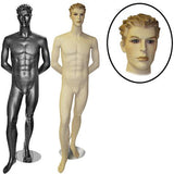 AF-MM1 Male Mannequin with Molded Hair - DisplayImporter