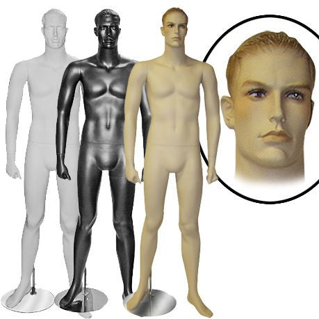 AF-MM2 Male Realistic or Abstract Mannequin with Molded Hair - DisplayImporter