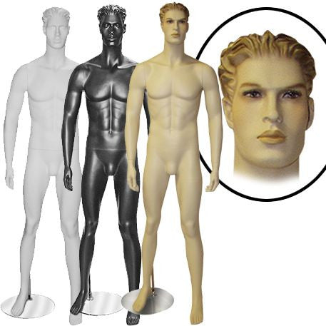 AF-MM3 Male Mannequin with Molded Hair - DisplayImporter