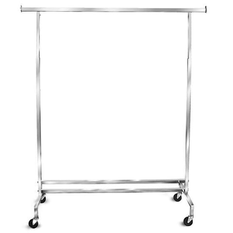 AF-RK43 Single Hangrail Salesman Rolling Rack - DisplayImporter