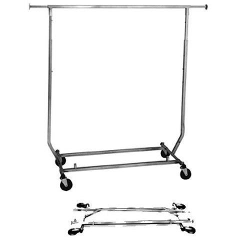 AF-RSWFSQ Collapsible Square Tubing Salesman Rolling Rack - DisplayImporter