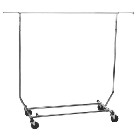 AF-RSWF Collapsible Round Tubing Garment Salesman Rolling Rack - DisplayImporter