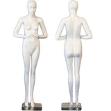 AFD-SHF20 Female Full Body Standing Glossy Pearl White Mannequin - Rye - DisplayImporter