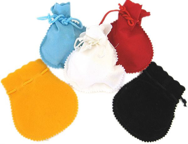 "BG-006 Medium Velveteen Gift Bags - 4.25"" H x 3.75"" W - DisplayImporter"