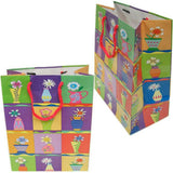 "BG-037 Euro-Handle Paper Shopping Bags - 9.5"" x 8"" Flower Vases (#k05g) - DisplayImporter.com - 4"
