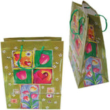 "BG-037 Euro-Handle Paper Shopping Bags - 9.5"" x 8"" Tulips (#k09g) - DisplayImporter.com - 7"