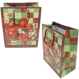"BG-037 Euro-Handle Paper Shopping Bags - 9.5"" x 8"" Autumn Lilies (#no25g) - DisplayImporter.com - 10"