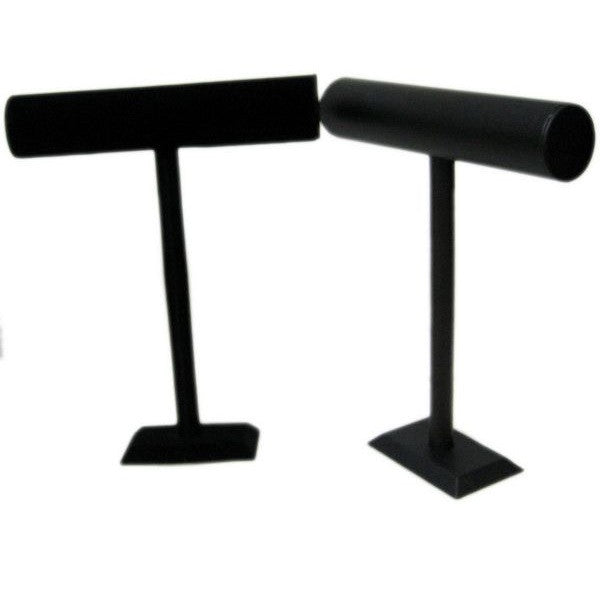 "DS-096 High ""T"" Bar Leatherette/Velvet Display  - DisplayImporter.com"