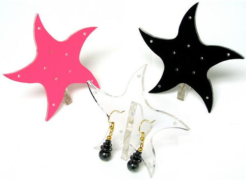 DS-099 Fancy Curved Star Earrings Jewelry Display Stand - DisplayImporter