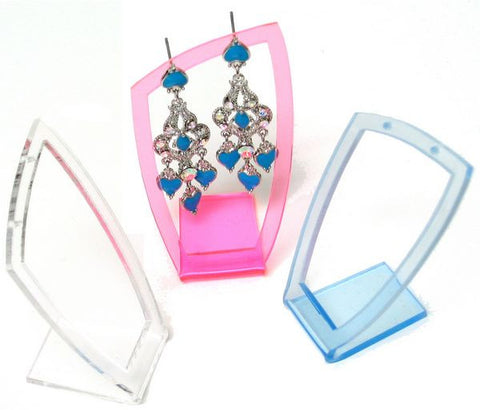 DS-101 Single Pair Geometric Frame Earrings Jewelry Display Stand - DisplayImporter