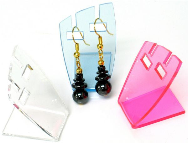 "DS-102 Acrylic ""L"" Shaped Earring & Pendant Display Stand - DisplayImporter"