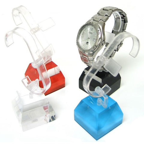 DS-107 Watch Display with Acrylic Top-Beveled Block Base  - DisplayImporter.com