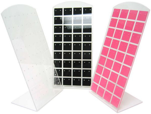 DS-116 Checkered Curved Top 36 Pair Earring Display Panel  - DisplayImporter.com