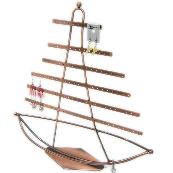 DS-150 Nautical Theme, Ship in Sail Jewelry Display/Organizer  - DisplayImporter.com