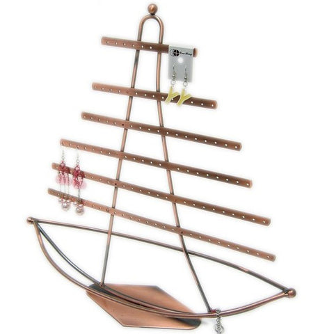 DS-150 Nautical Theme, Ship in Sail Earrings Jewelry Display/Organizer - DisplayImporter
