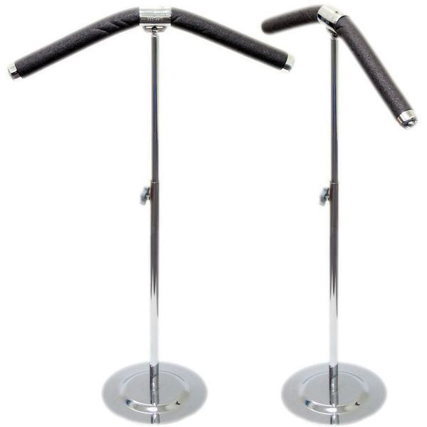 HG-004 Posable Blouse Countertop Flexible Foam Hanger Stand with Metal Base  - DisplayImporter.com