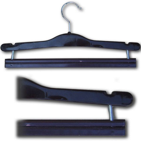 "HG-040 15.5"" Pants Hanger with Spring Loaded Bar - DisplayImporter"
