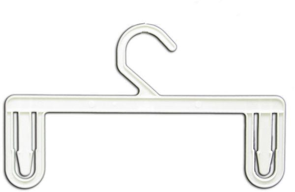 "HG-041 11"" White Plastic Skirt & Pants Clothes Hangers - Pack of 250  - DisplayImporter.com"