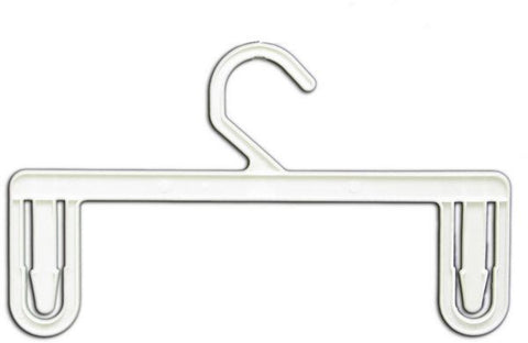 "HG-041 11"" Cream White Plastic Panties and Lingerie Clothes Hangers - Pack of 250 - DisplayImporter"