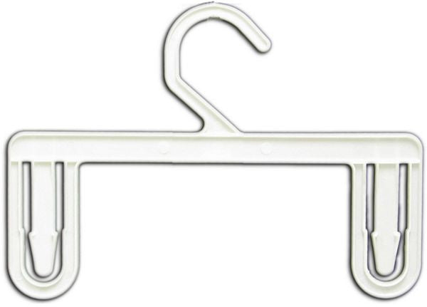 "HG-042 8"" White Plastic Skirt & Pants Clothes Hangers - Pack of 250  - DisplayImporter.com"