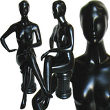 MN-045 Ladies Full Size Sitting Mannequin with Pedestal  - DisplayImporter.com