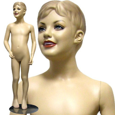 "MN-070 Male Child Standing Mannequin (7-11 Years Old) 4' 4"" - DisplayImporter"