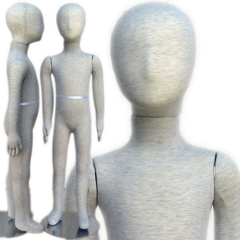 "MN-098 Pinnable & Flexible Child Kid Mannequin with Head 3' 6"" (4C-5C) - DisplayImporter"
