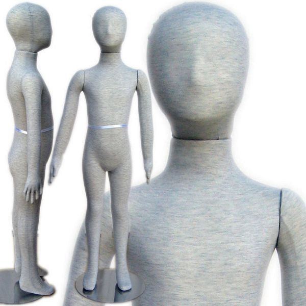 "MN-099 Pinnable & Flexible Kid Mannequin with Head 3' 9"" (5C-6C) - DisplayImporter"