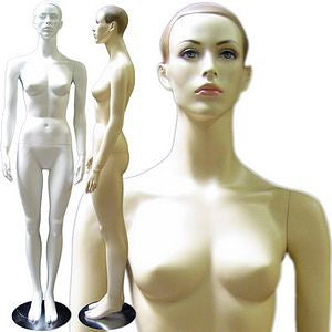 MN-131 Full Size Female Standing Mannequin with Arms Straight Down  - DisplayImporter.com - 1