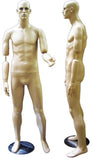 MN-136 Full Size Male Mannequin with Flexible Arms  - DisplayImporter.com - 2