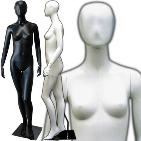 MN-144 Egghead Female Mannequin with Abstract Face - DisplayImporter