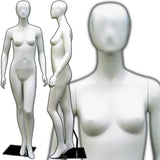 MN-144 Full Size Egg Head Female Mannequin White - DisplayImporter.com - 3
