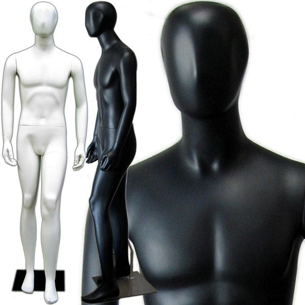 MN-145 Full Size Male Mannequin with Abstract Face  - DisplayImporter.com - 1